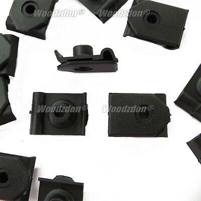 30 Pcs 5.5mm Hole Screw Mounting Wheel Arch Cover Fastener Clips Black Car Auto