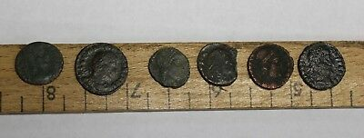 Lot of 6 Ancient Roman AE Empire A.D. Rome Coin Legion Rev Soldiers Spears (241)