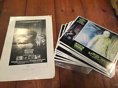 Set Of 8 Swamp Thing Lobby Cards And Press Kit Sheets? 1982 Was Craven Dc Vf/nm