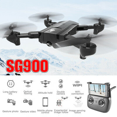SG900 RC FPV Drone Quadcopter with WIFI 1280P HD Camera GPS Optical DJI Position