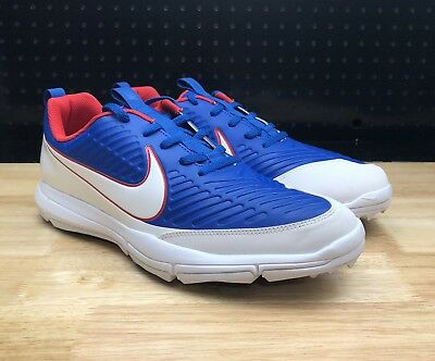 premium selection f105b c6115 NEW Nike Explorer 2 Spikeless Golf Shoes Men s SZ 10 849957-401 Blue Red USA