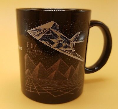 LOCKHEED F-117 Stealth Fighter black coffee cup mug
