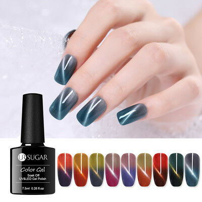 7.5ml UR SUGAR Soak Off UV Gel Thermal Magnetic Cat Eye Polish Nail Art Varnish