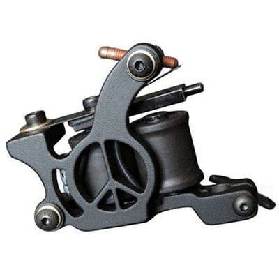 Tattoo Machine Professional Aluminum Alloy 10 Wrap Coil Gun For Power Set Supply