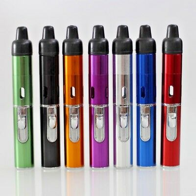 Windproof Torch Lighter Portable Click-N-Vape Smoking Pipe Built-in Lighter USA