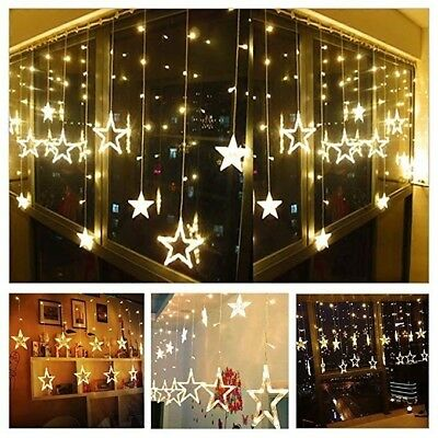Star Shaped Led Fairy String Lights Curtain Window Bedroom