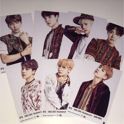 BTS FAKE LOVE Airplane pt.2 Photo complete 7 set official photocard Bangtan Boys