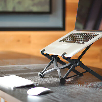 Lightweight Foldable Laptop Table Stand Adjustable Notebook Holder Tray Travel