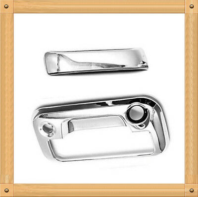 Chrome Tailgate Handle Cover with Camera Hole For Ford F-150 F-250 F-350 F-450