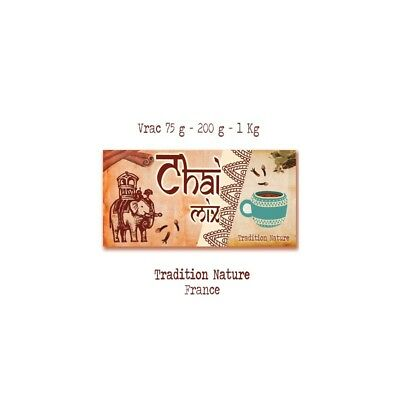 Chai Mix - Tea mix sans theine  |  vrac 75 g Tchai thé recette traditionnelle de