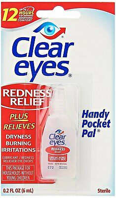 Clear Eyes Redness Relief Handy Pocket Pal, 0.2 Fluid Ounce (Pack of 4)