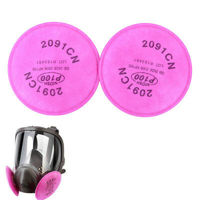 2Pcs^2091 Particulate Filter P100 for 6000 7000 Series Facepiece Respirator_F
