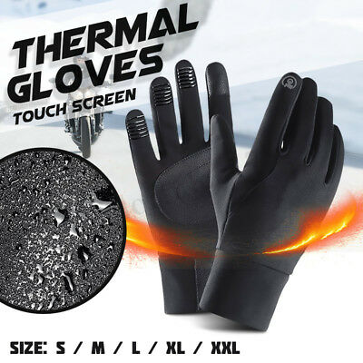 Winter Warm Windproof Waterproof Anti-Slip Thermal Touch Screen Cycling Gloves
