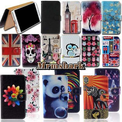 Flip Leather Wallet Card Stand Cover Case For Various Doro SmartPhones + Stylus