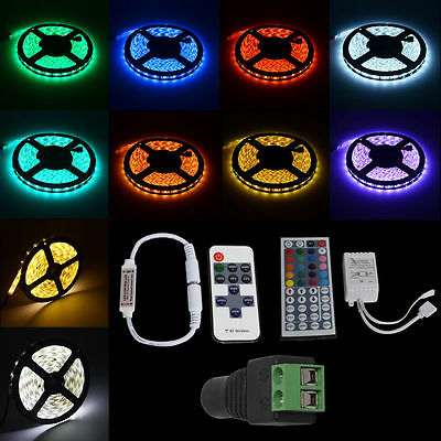 5M 300 LED 5050 2835 RGB Strip Light 12V Remote Controller  Adapter Waterproof