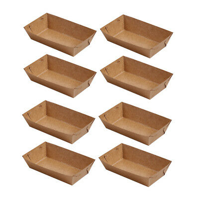 50pc Kraft Paper Food Disposable Serving Tray For Fried Chicken Popcorn Barbecue