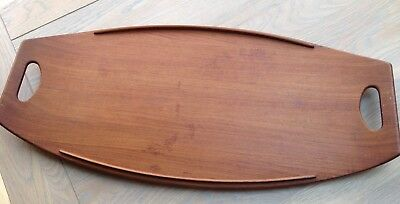 Dansk Teak Tray by Jens Quistgaard - JHQ Four Ducks Logo, 1960's