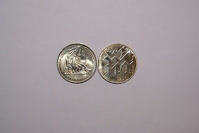 2 UNCIRCULATED 10 MARK COINS from EAST GERMANY - 1972 & 1990 (2 TYPES)