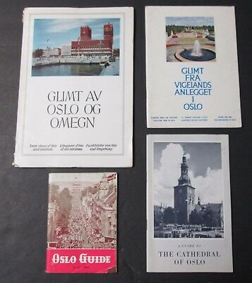 OSLO Sweden Guide Book Brochures 4 Pcs Early 1960s Travel Souvenirs