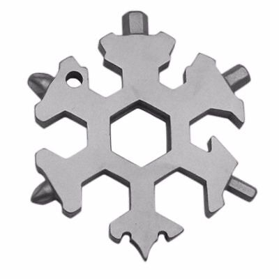 15 In 1 Multi-tool Outdoor Multiuse Snowflake Wrench Stainless EDC Tool Wrenches