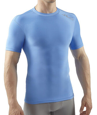 Sub Sports Cold Thermal Mens Short Sleeve Top Compression Baselayer - Blue