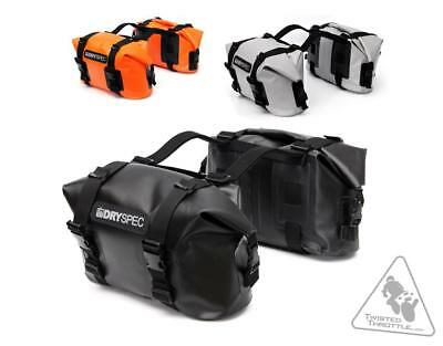 DrySpec D20 Waterproof Motorcycle Drybag Saddle Bag System In Black (40L total)