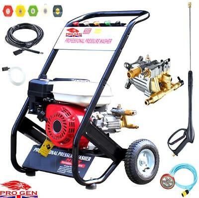 2500PSI Easy Start Petrol Power Pressure Jet Washer Brass Pump With Gun Hose
