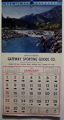 "Vintage 1950 ""gateway Sporting Goods Co."" Advertising Wall Calendar"