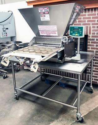 Hinds-Bock 5P-08Wt Bakery Equipment 5 Piston Table Top Muffin Cake Depositor