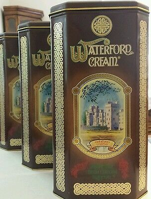 Waterford Cream Irish Liqueur Tin w/Ashford Castle- Vintage-England-10 X 5.5 X 4