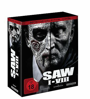 Complete Box Set Saw I - VIII Part 1 2 3 4 5 6 7 8 Definitive Collection DVD New