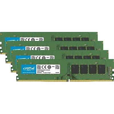 Crucial 64GB Kit (16GBx4) DDR4 2400 MT/s (PC4-19200) DR x8 DIMM 288-Pin - CT4K16