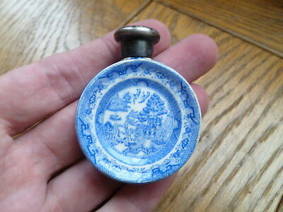 Sampson Mordan Silver Capped Willow Patter Scent Bottle H/m London 1884