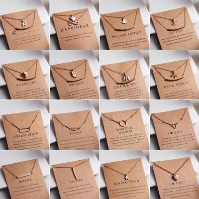 Fashion Women Necklace Pendant Gold Clavicle Chains Choker Card Jewelry Gift Hot