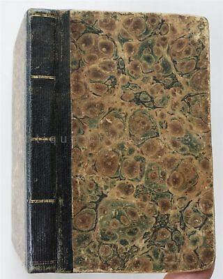 1831 antique WRITING FORMS TABLES BOOK owner SAMUEL HALL strafford nh GAZETTEER