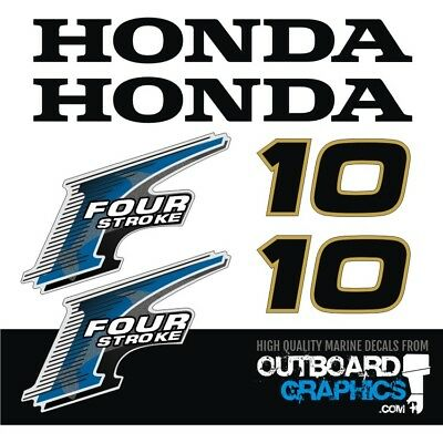 Honda BF10hp 4 stroke outboard engine decals/sticker kit