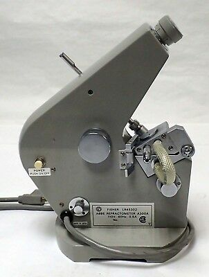 FISHER LR45302 ABBE REFRACTOMETER A300A 110V 0.5A BENCHTOP w/METAL CASING