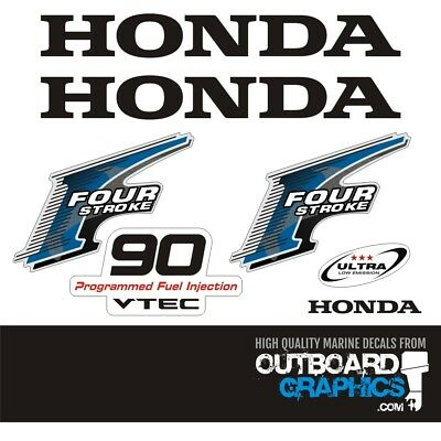 Honda BF90hp 4 stroke outboard engine decals/sticker kit