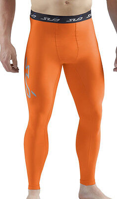 Sub Sports Cold Thermal Mens Long Compression Tights - Orange