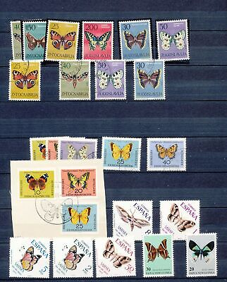 China MiddleEast Korea Hungary Ecuador Israel BUTTERFLIES Insects M&U(120+)Ta786