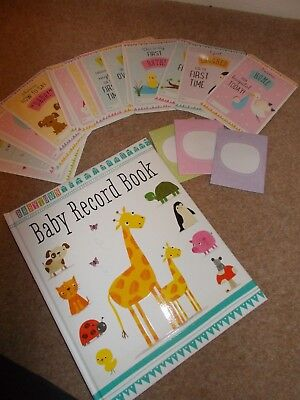 BABYS FIRST YEAR - inc record book, special moment cards & keepsake envelopes -