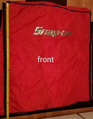 """Toolbox Cover – Snap-On for 35"""" KRL1056 Roll Cab, Red-can be zipped expanded"""