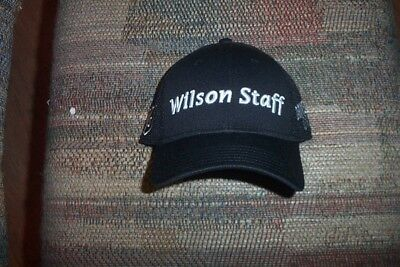b1a6b38ff92 BRAND NEW Wilson Staff black Golf Cap Troy Merritt Christmas special hat  deal