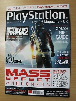 PlayStation Official UK Magazine Issue 130 Christmas 2016 Mass Effect and More