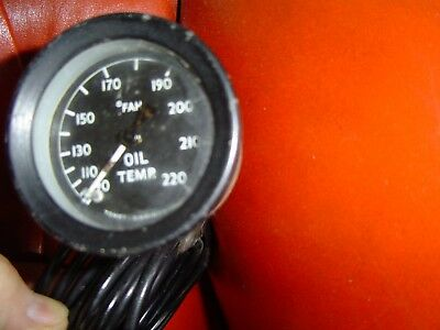 VINTAGE TOMEY OIL TEMP GAUGE With CAPILLARY TUBE ALVIS BENTLEY VSCC