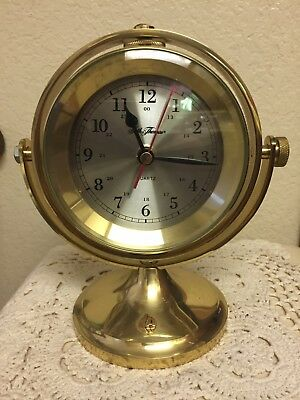 Seth Thomas Solid Brass Ship Boat Clock