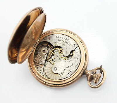 Elgin Watch Co 7J 6S Hunter Case Pocket Watch Parts Or Repair As Is Nr #3060-8
