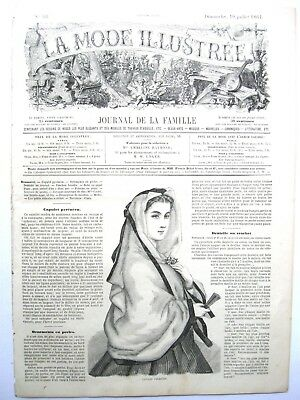 La Mode Illustree, July 10, 1864 - Fashion, Sewing, Family (In French)