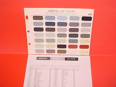 1947-1966 Fiat 1500 1500S Spider 1200 500 600 Multipla 2100 Jolly Paint Chips