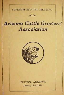 1914__Arizona__Cattle__Growers__Ranchers__ __Tucson__Convention___Rosters Photos